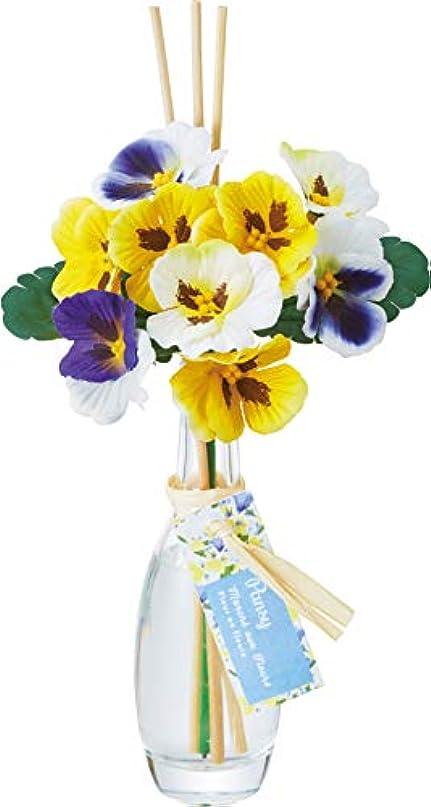 花瓶ペインティングバランスのとれたカメヤマキャンドルハウス フルールマルシェ ボトルディフューザー パンジー