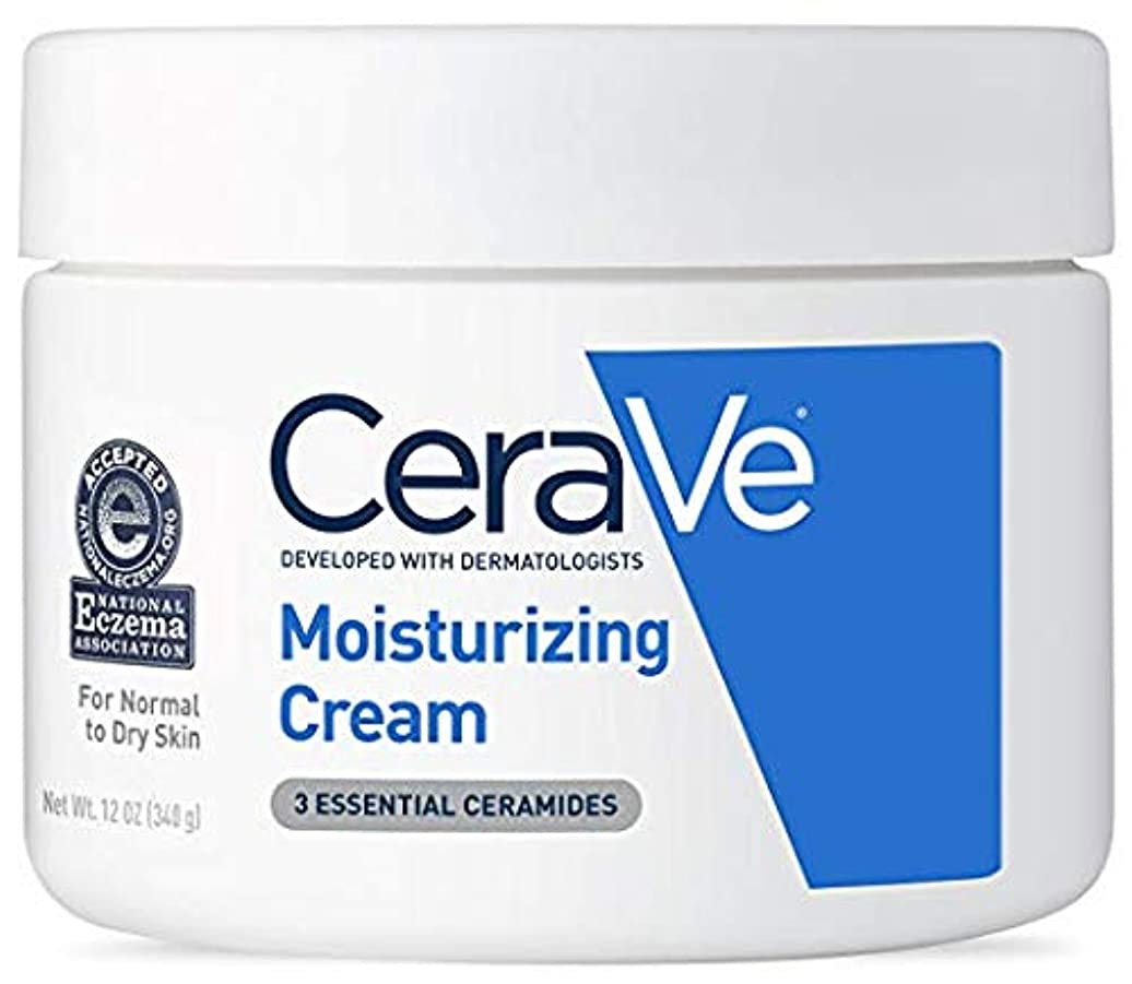 構築する上級楽しいCeraVe (セラヴィ) モイスチャライジングクリーム CeraVe Moisturizing Cream Daily Face and Body Moisturizer for Dry Skin
