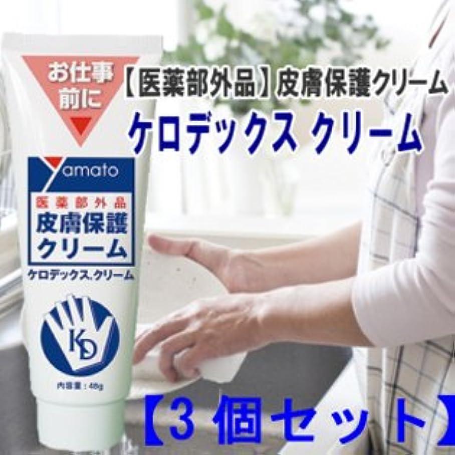 愛情深い切り刻む不純医薬部外品 皮膚保護クリーム ケロデックスクリーム48g 3個セット