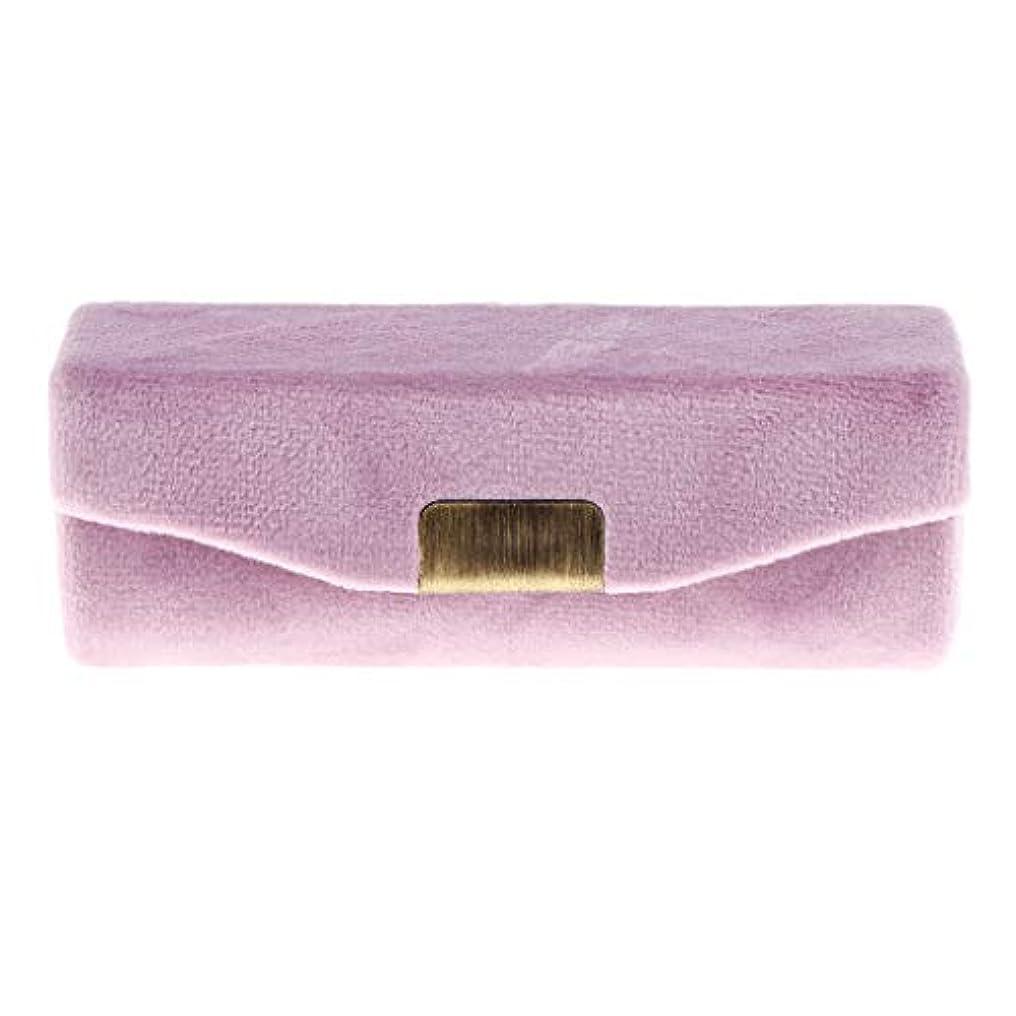 噛むレオナルドダルート全8カラー 口紅収納ケース ミラー付き 口紅ケース 口紅ケースホルダー 持ち運び便利 工芸品 - ピンク