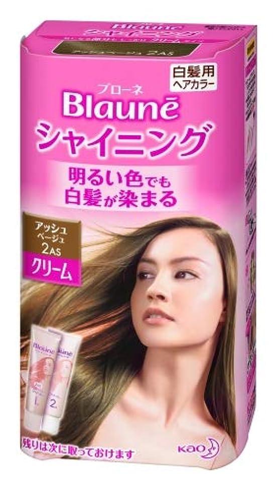 レンズわな分類する花王 ブローネ シャイニングヘアカラー クリーム 1剤50g/2剤50g(医薬部外品)《各50g》<カラー:アッシュBE>