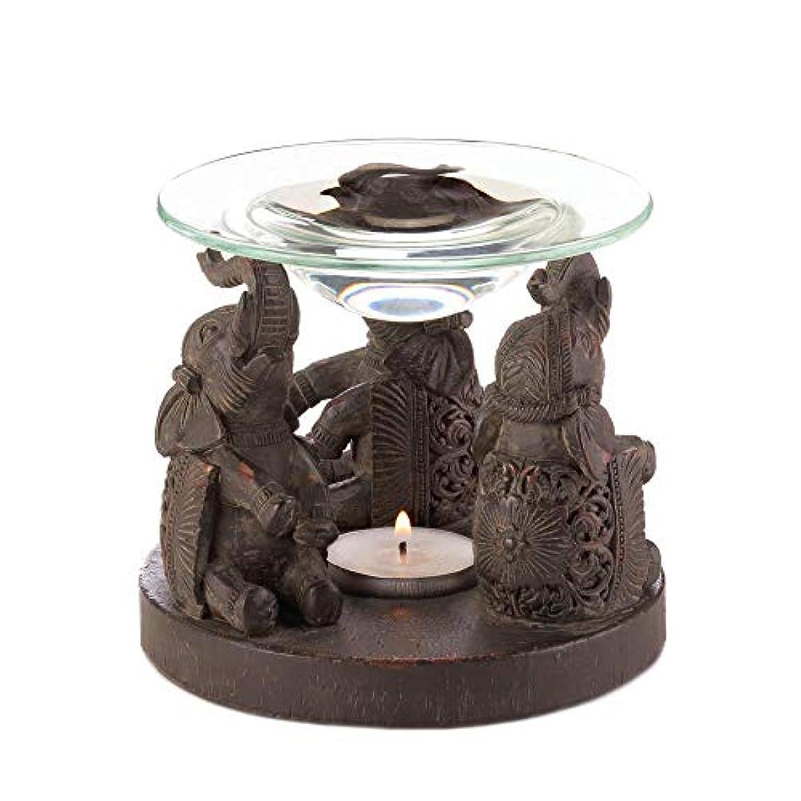 情熱的縫う忍耐Anya Nana ギフト 彫刻された象の像 キャンドル タルトワックスウォーマー バーナー ディフューザー アロマセラピー