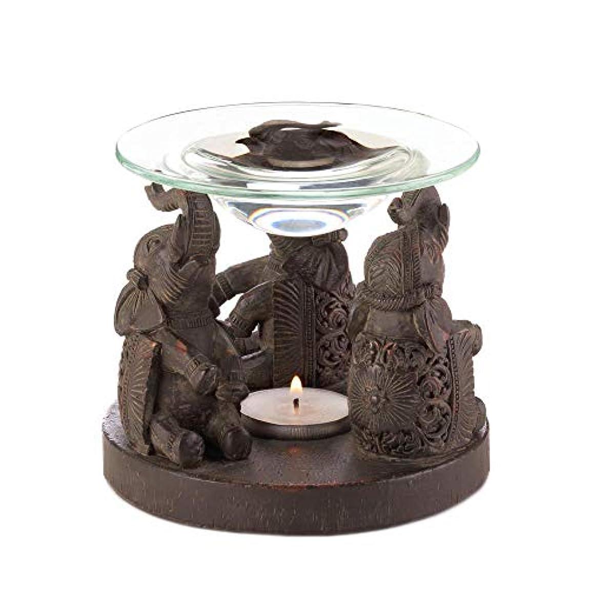 トロリー虐待廃止Anya Nana ギフト 彫刻された象の像 キャンドル タルトワックスウォーマー バーナー ディフューザー アロマセラピー