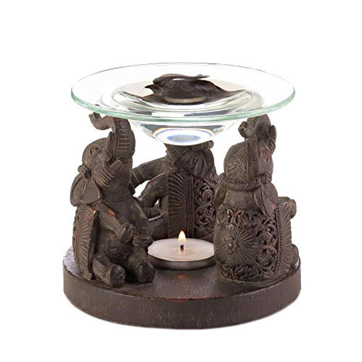 儀式艦隊ごめんなさいAnya Nana ギフト 彫刻された象の像 キャンドル タルトワックスウォーマー バーナー ディフューザー アロマセラピー