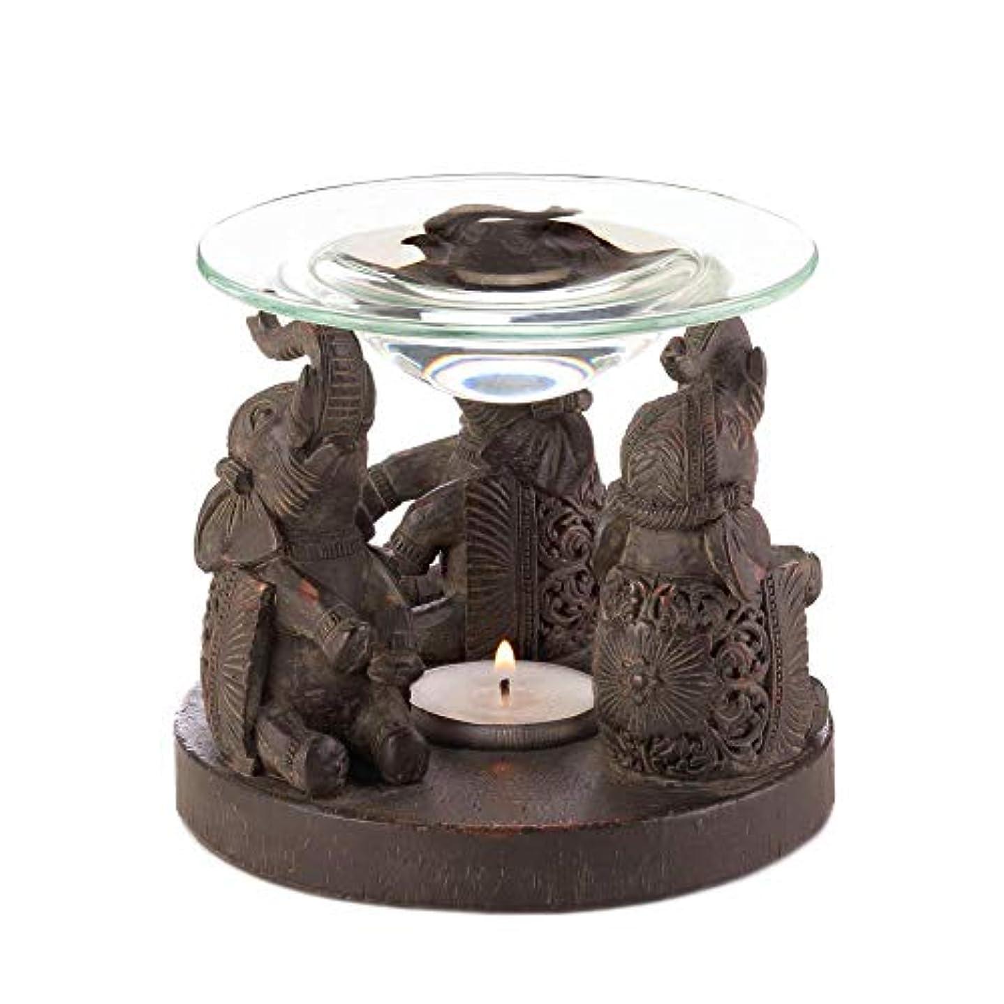 不利益劣るグローバルAnya Nana ギフト 彫刻された象の像 キャンドル タルトワックスウォーマー バーナー ディフューザー アロマセラピー