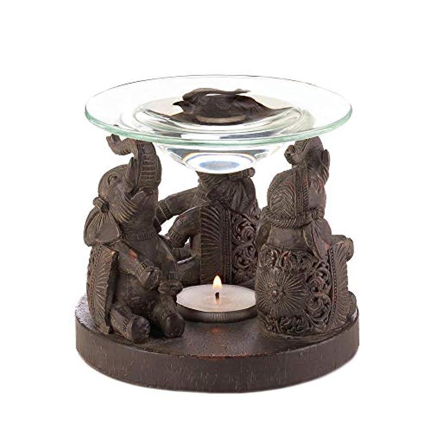 工業用行政虫を数えるAnya Nana ギフト 彫刻された象の像 キャンドル タルトワックスウォーマー バーナー ディフューザー アロマセラピー
