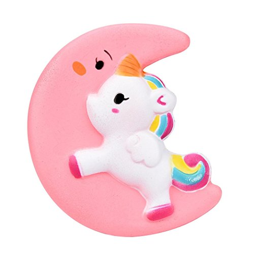 1pc Kawaii Yummy Exquisite SquishyキュートMoonユニコーン香りつきクリームSlow Rising Squeeze Decompression Toy???waymine