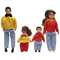 Dollhouse Miniature 4-Pc. Thompson Family by