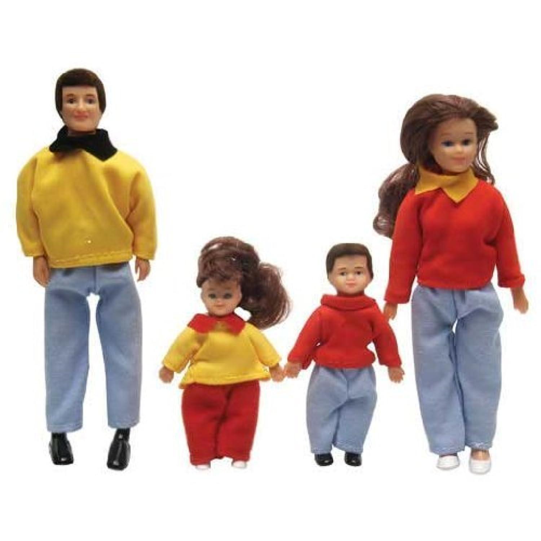 Dollhouse Miniature 4-Pc. Thompson Family by