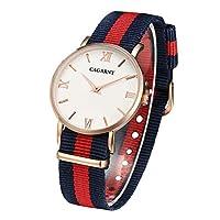 MDYJP 6813 腕時計 時計 メンズ レディース おしゃれ 人気 軽量 時計 (色 : 赤)