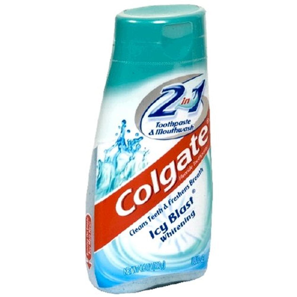 組み合わせ情緒的群がるColgate 2で1歯磨き粉およびマウスウォッシュ、美白アイシーブラスト - 4.6オズ