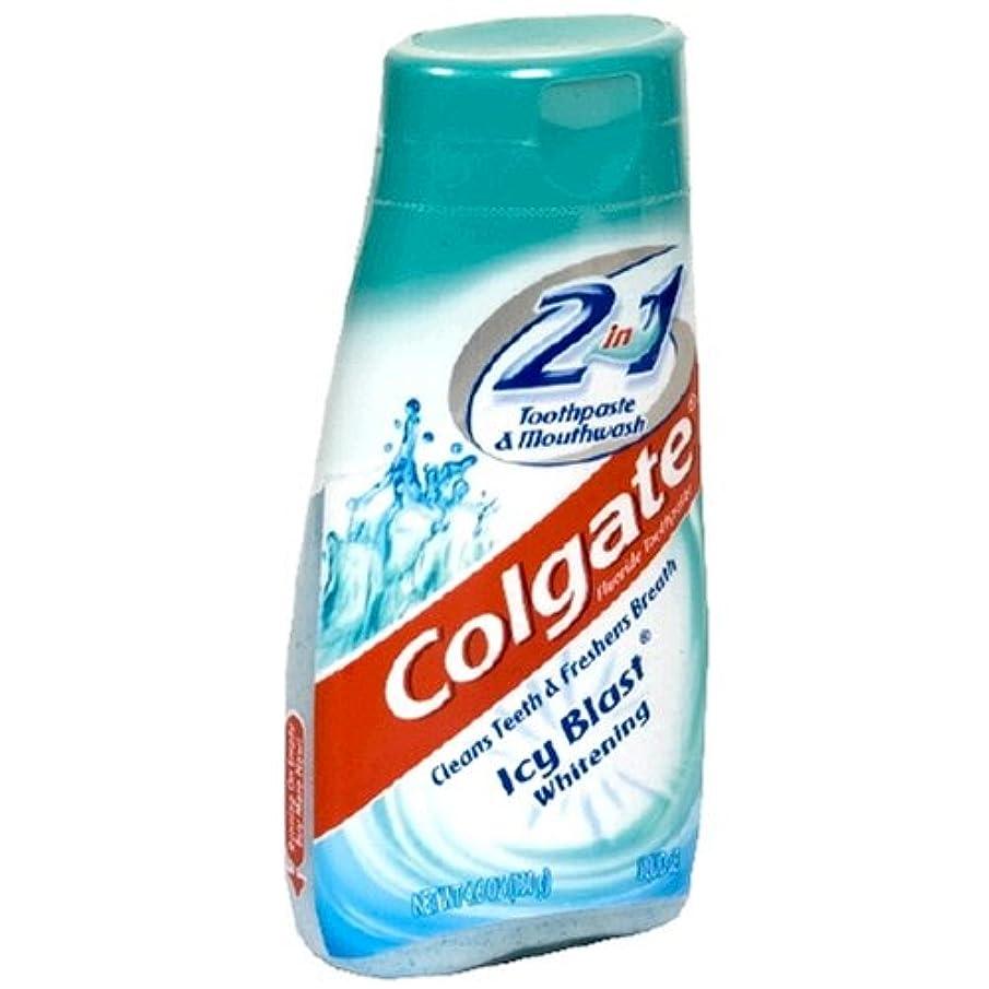 辞書レギュラー近代化するColgate 2で1歯磨き粉およびマウスウォッシュ、美白アイシーブラスト - 4.6オズ