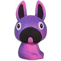 Anboor 5.1インチ スクイッシー 犬 色付きペイント かわいいゆっくり元に戻る香り付きロングイヤーアニマルスクイーズ ストレス解消 子供のおもちゃ 装飾小道具