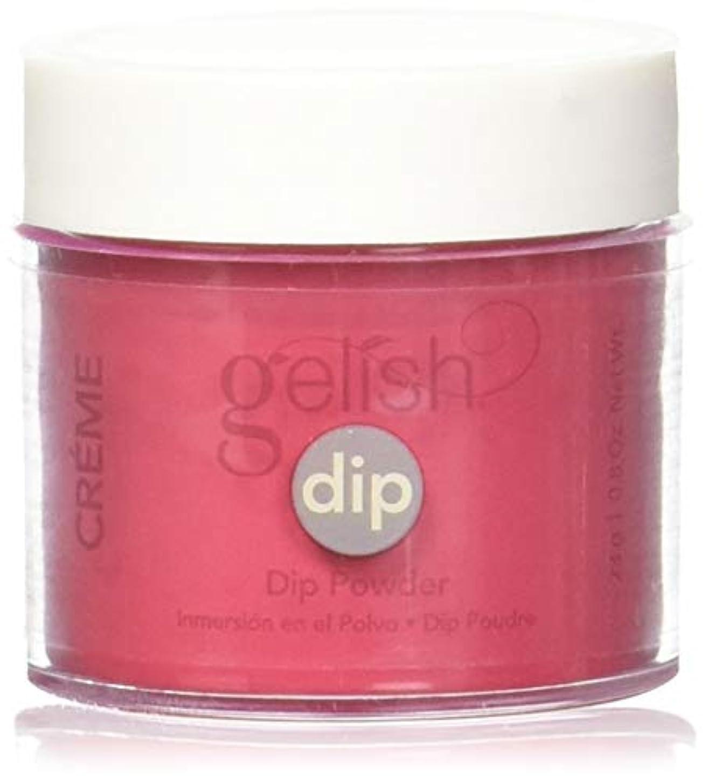 谷統計的伝導Harmony Gelish - Acrylic Dip Powder - Hot Rod Red - 23g / 0.8oz