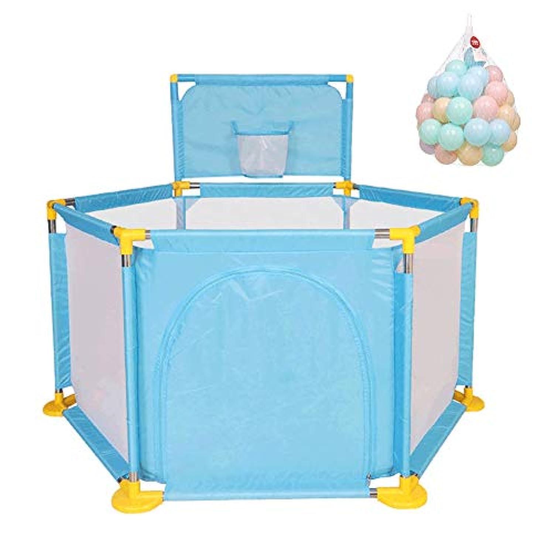 ベビーサークル 6パネルプレイペン青の子供のゲームのフェンスの赤ん坊の遊び場遊び場、66cmの背の高い子供の遊び場 (サイズ さいず : 200 balls)