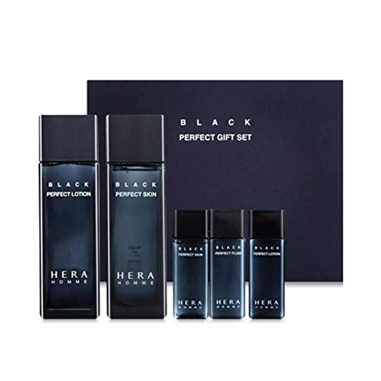 オート控えめな影響力のあるヘラオムブラックパーフェクトスキンローションセットメンズコスメ韓国コスメ、Hera Homme Black Perfect Skin Lotion Set Men's Cosmetics Korean Cosmetics...