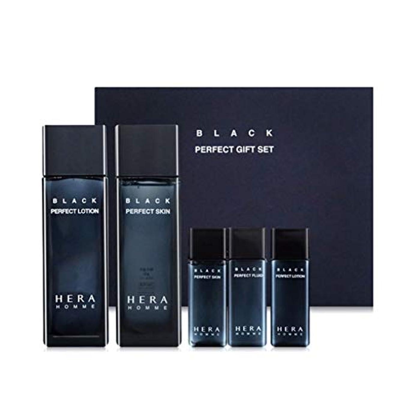 ハブ事検出器ヘラオムブラックパーフェクトスキンローションセットメンズコスメ韓国コスメ、Hera Homme Black Perfect Skin Lotion Set Men's Cosmetics Korean Cosmetics [並行輸入品]