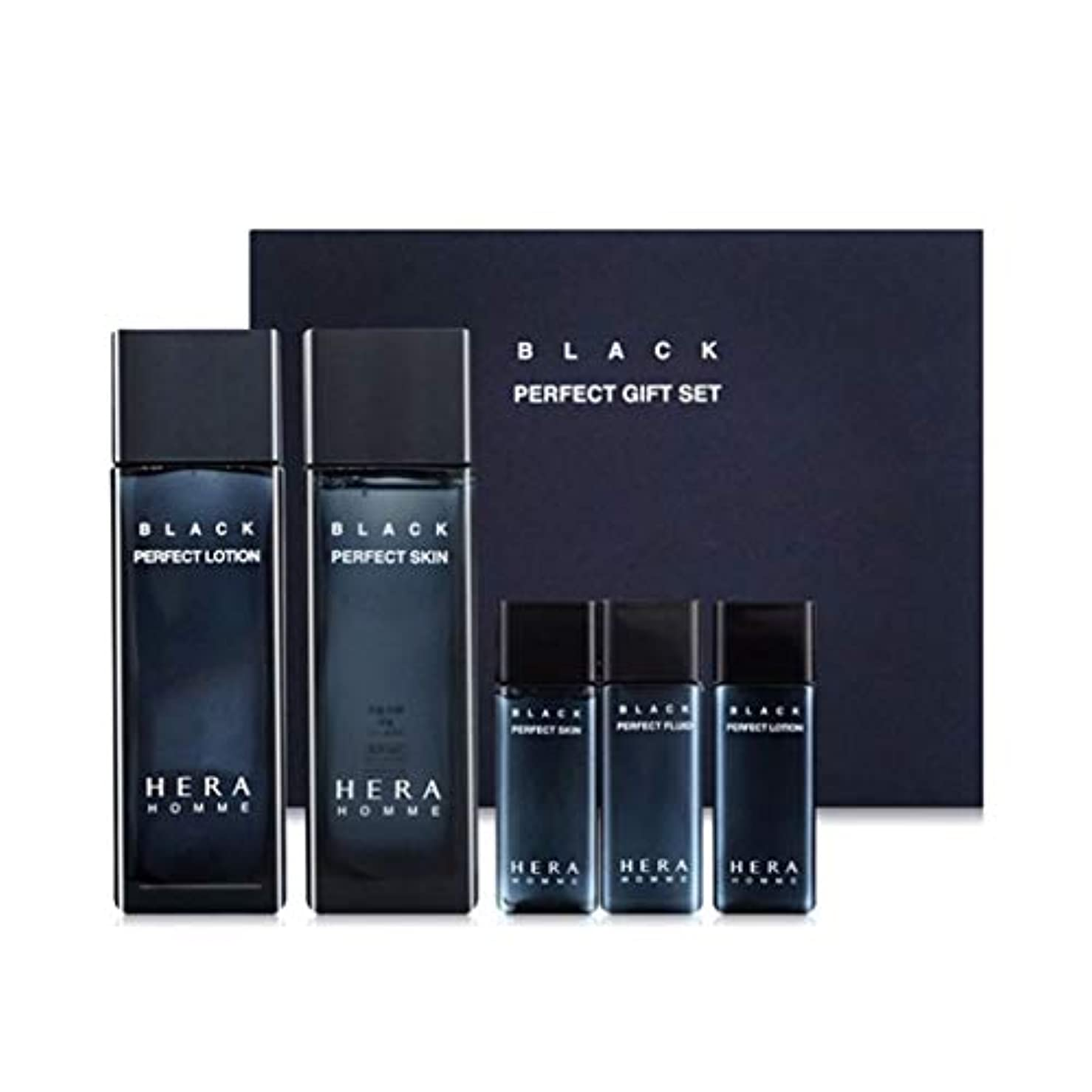 知事アーク内陸ヘラオムブラックパーフェクトスキンローションセットメンズコスメ韓国コスメ、Hera Homme Black Perfect Skin Lotion Set Men's Cosmetics Korean Cosmetics [並行輸入品]