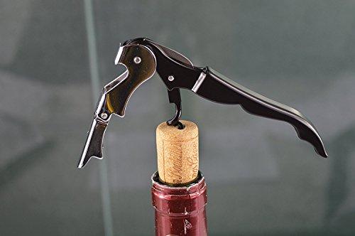Mayshionワイン用品 3種の高機能ツールをキーサイズに凝縮 多機能折り畳み式栓抜き 3役 栓抜き ナイフ コルク抜き ワイン 必需品 ブラック 携帯便利 取り扱い方法簡単 ストッパー 鍵と一緒に携帯できる Mayshion