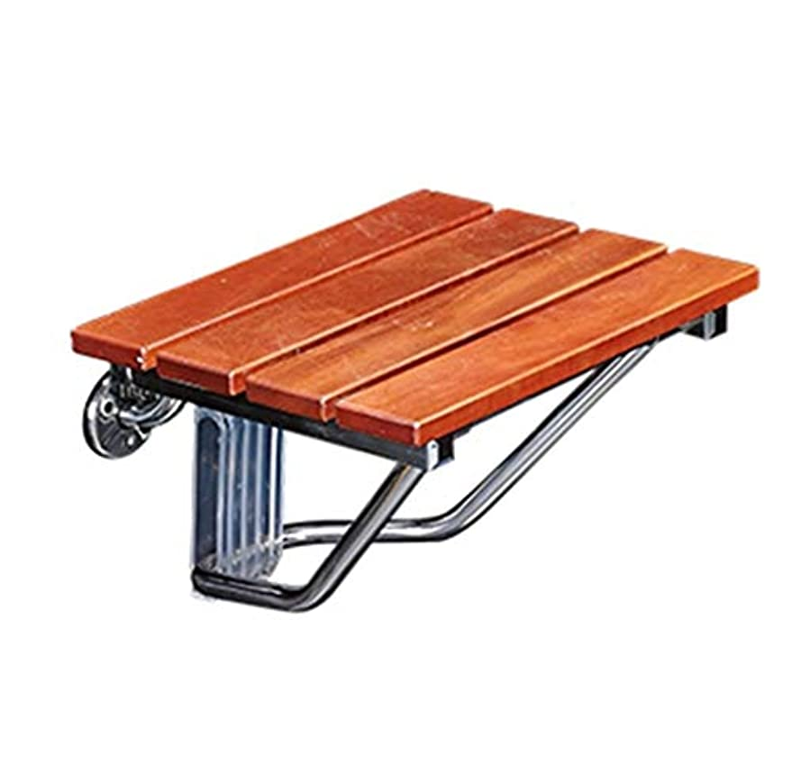 村ロケット呼ぶ折り畳み式の壁のシャワーの腰掛け、壁に取り付けられた木製の折りたたみ式のシャワーの座席木製の変更は高齢者/身体障害者のスリップ防止シャワーの椅子のために腰掛け