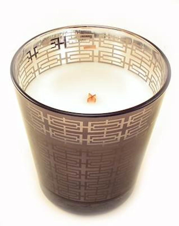 留め金牛肉含めるSand DriftメタリックタンブラーWoodWick Scented Candle