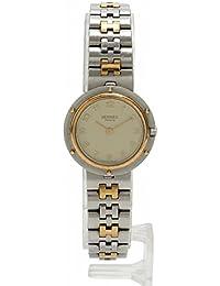 (エルメス) HERMES クリッパー クオーツ 腕時計 レディース SS シルバー ゴールド アイボリー 中古