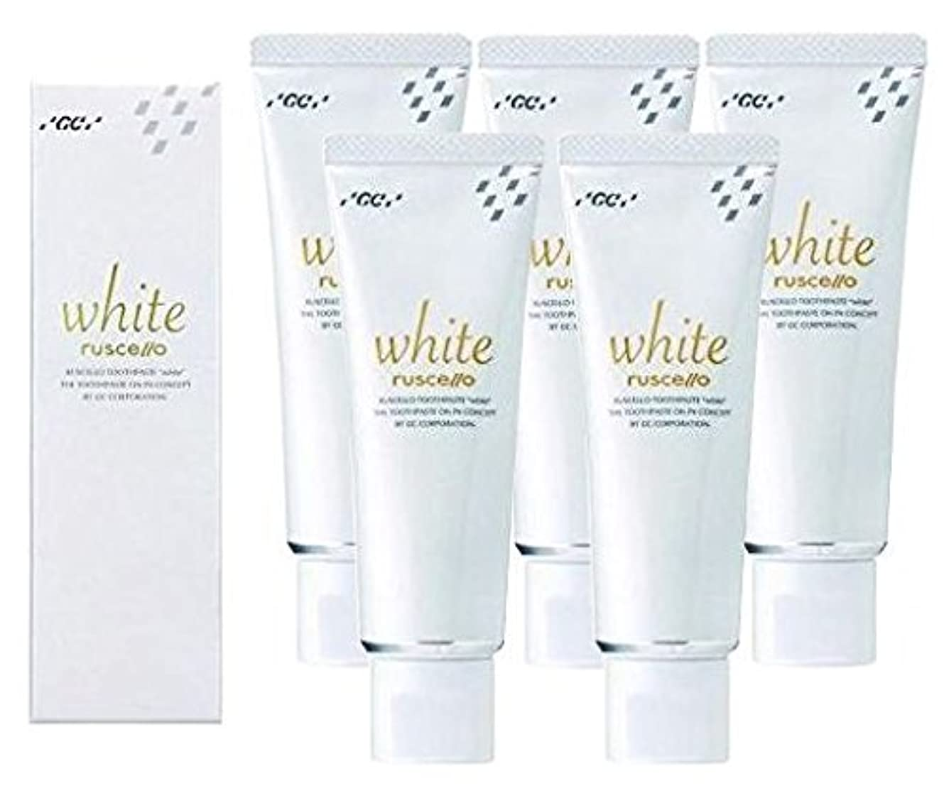 GC ルシェロ 歯みがきペースト ホワイト 100g × 5本 医薬部外品