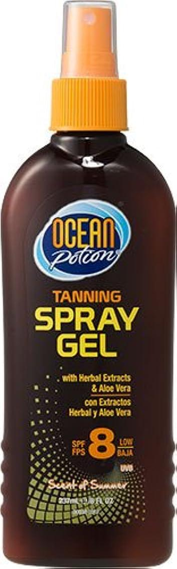 入浴でバランスのとれたオーシャンポーション ターニング スプレージェル SPF8