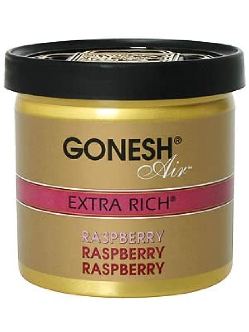 タバコ汚染ストラップガーネッシュ(GONESH) ゲルエアフレッシュナー ラズベリー 78g