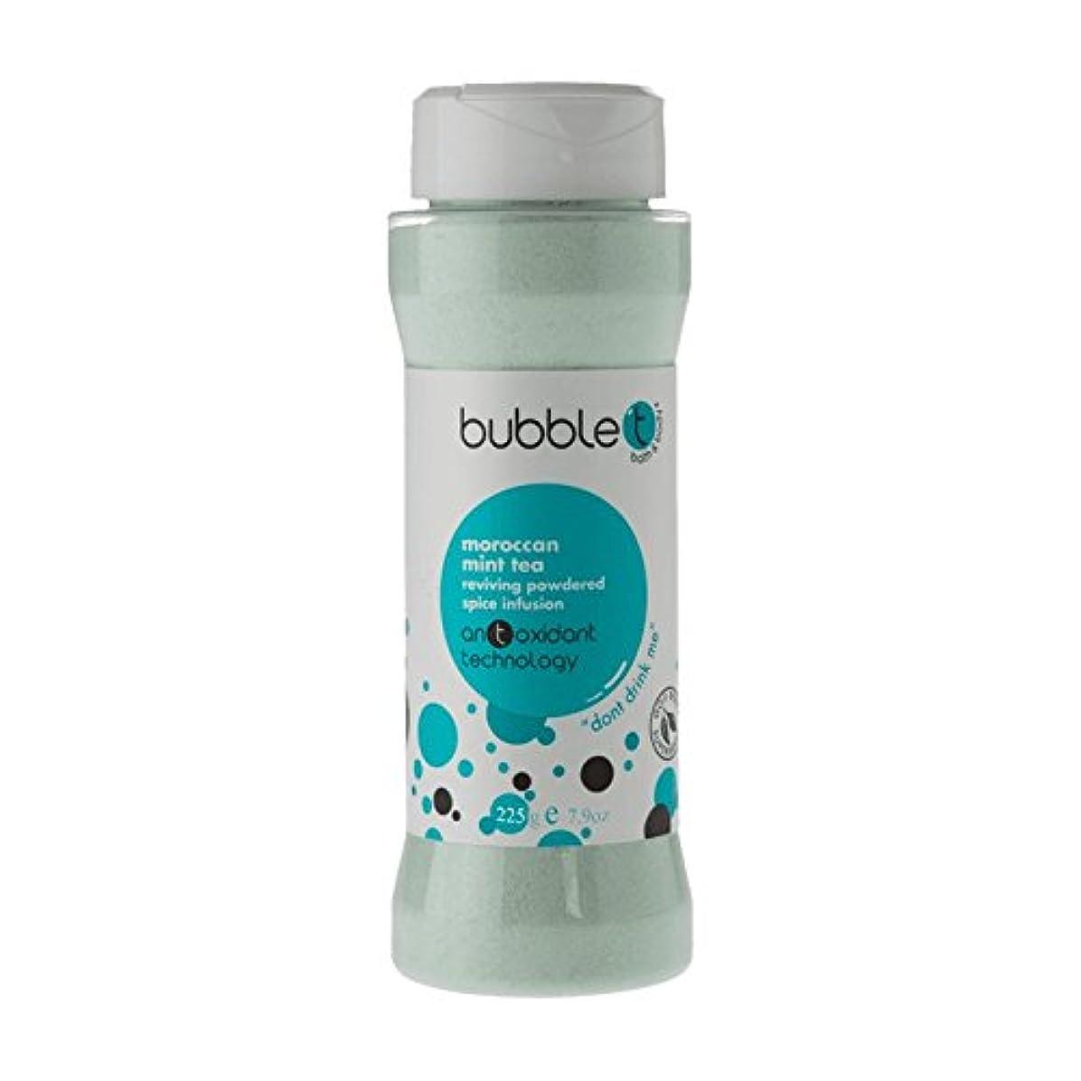 ホームバックグラウンドなめらかバブルトン風呂スパイス注入モロッコのミントティー225グラム - Bubble T Bath Spice Infusion Morrocan Mint Tea 225g (Bubble T) [並行輸入品]