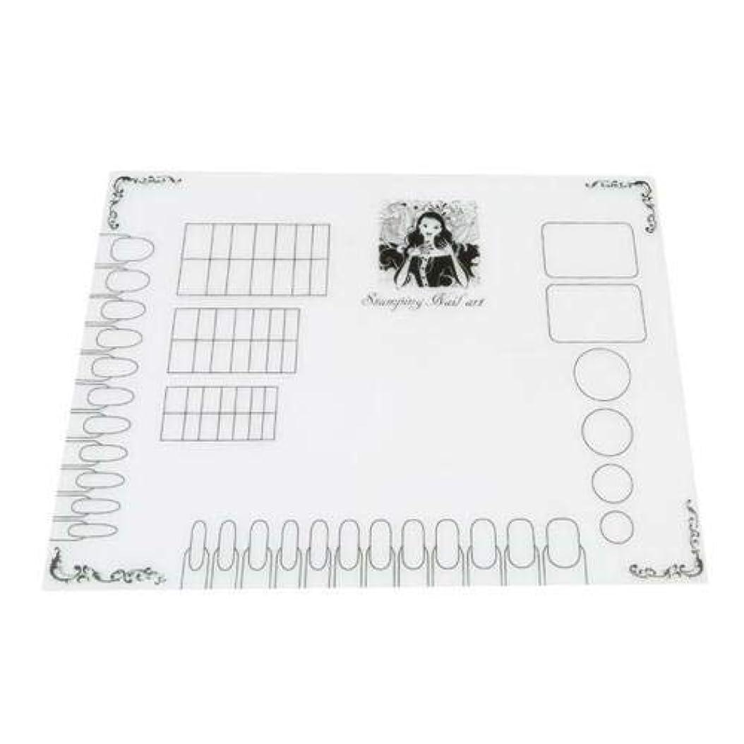 カレンダー細菌ホールドFidgetGear ネイルアートの練習シリコーンマットパッド着色ポーランド語スタンピング転写パレットQ E