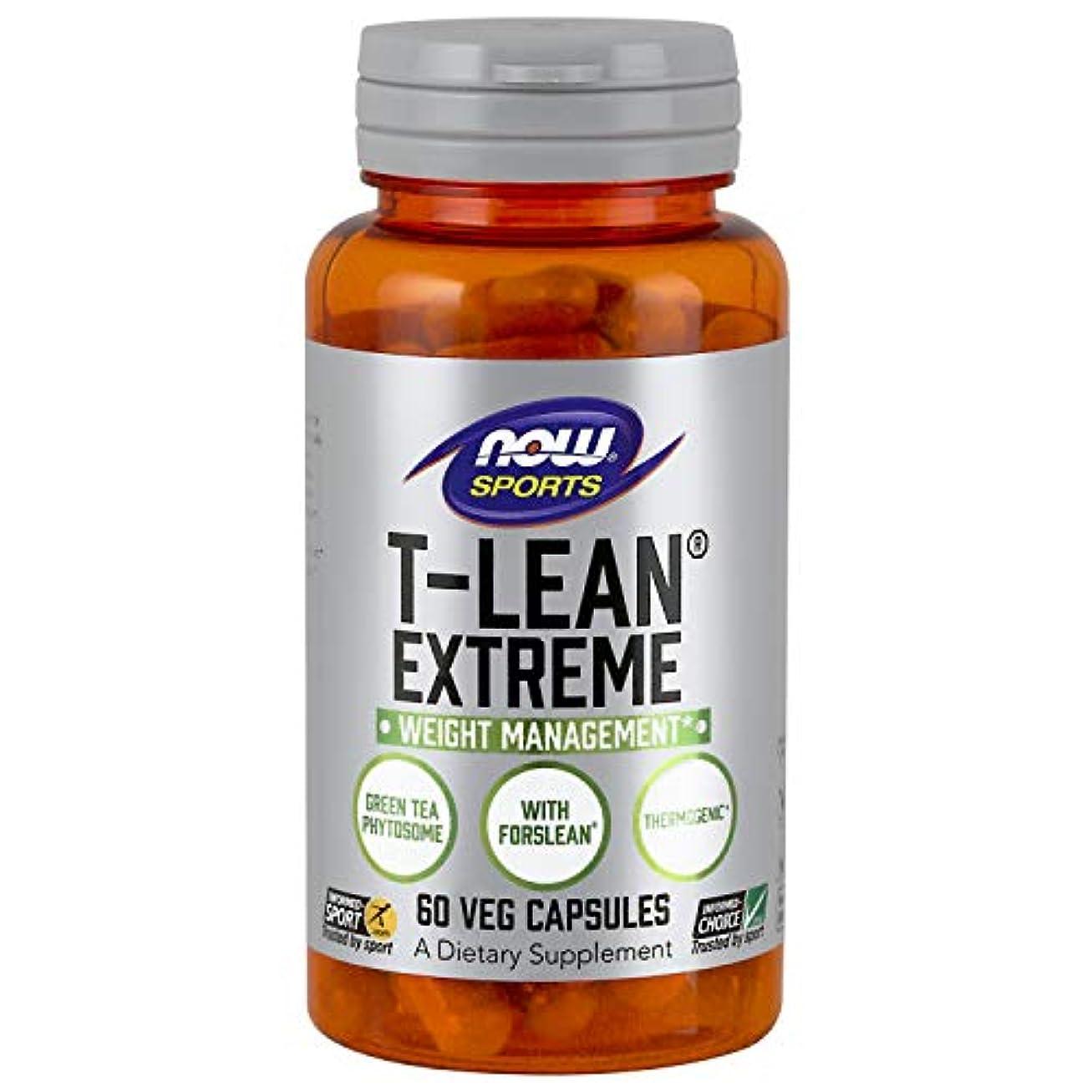 汗平和的合併症海外直送品 Now Foods T-Lean Extreme, 60 vcaps