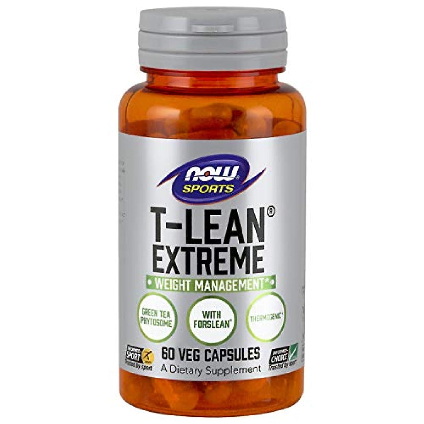 国勢調査高価なムス海外直送品 Now Foods T-Lean Extreme, 60 vcaps