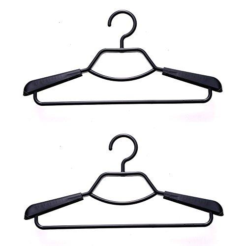 シンコハンガー 形態安定シャツ用ハンガー 2本組 ブラック