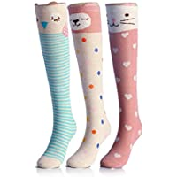 CISMARK Cartoon Animal Cotton Knee High Socks For Children