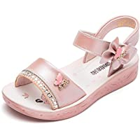 GUBARUN Open Toe Sandals Flower Glitter for Girls