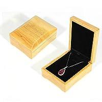 RRT ジュエリー収納ボックス、木製色の木製ジュエリーパッキングケースポータブルウェディングリングブレスレットペンダント表示ボックスギフトボックス、種類:ペンダントボックス
