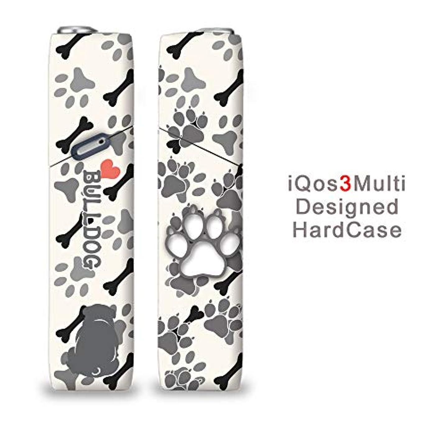 現実的マネージャー運命完全国内受注生産 iQOS3マルチ用 アイコス3マルチ用 熱転写全面印刷 ドッグシルエット ブルドッグ 加熱式タバコ 電子タバコ 禁煙サポート アクセサリー プラスティックケース ハードケース 日本製
