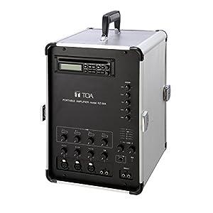 TOA 移動用PAアンプ30Wx2ch ダイバシティチューナーユニット(WTU-1820)2台内蔵 CD付 KZ-30A