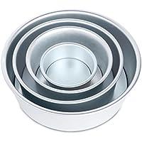 Zhhlinyuan プレミアム Quality Cake Baking Aluminum Pan Mould Box Round Deep Loose Base Bottom pcbk13#