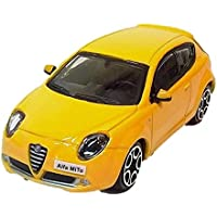 アルファロメオ ミト ブラーゴ モデルカー ダイキャスト製 ミニカーイタリアデザイン burago Alfa Romeo MITO イエロー [並行輸入品]