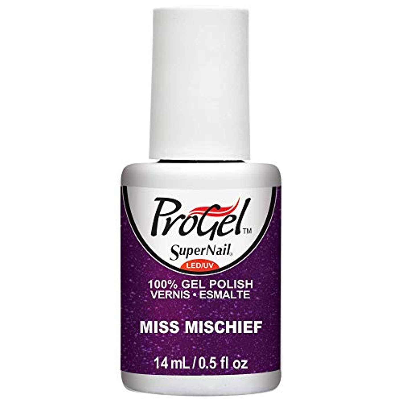 錆び変更可能大騒ぎSuperNail ProGel Gel Polish - Miss Mischief - 0.5oz / 14ml