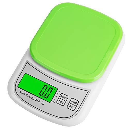 はかり 料理キッチンスケール クッキングスケールデジタルスケール フック穴付き オートパワーオフ 測り 0.1スケールデジタル計量器キッチン スケール はかり デジタル 0.1gランキング緑図り 0.1g単位2kg電子天秤 すけーるカウンティング機能 個数計算 多機能秤計量器 デジタル