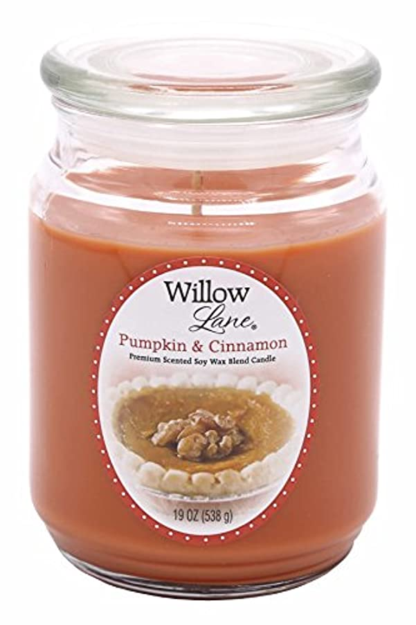 Candle-lite Willow Lane 19oz Jar with Soy Wax - Pumpkin & Cinnamon by Candlelite
