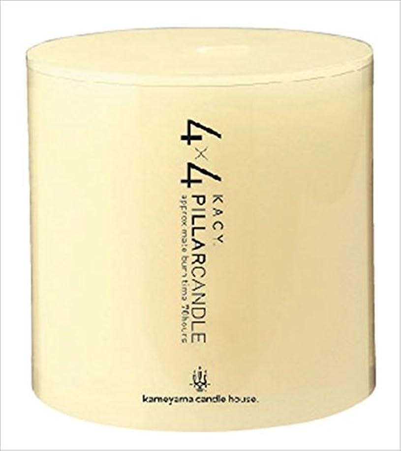 逸話現実的スロープカメヤマキャンドル( kameyama candle ) 4×4ピラーキャンドル 「 アイボリー 」