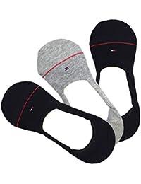 TOMMY HILFIGER トミーヒルフィガー メンズ 靴下 ソックス 3足セット 灰 紺 グレー ネイビー インナーソックス フットカバー [25cm-30cm] [atc28296] [並行輸入品]