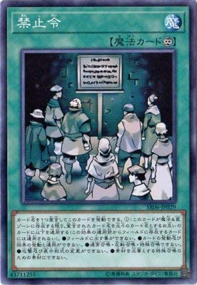 遊戯王/第10期/ストラクチャーデッキR-闇黒の呪縛-/SR06-JP029 禁止令