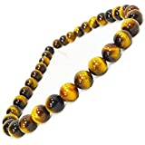 【OMAMORI-DO】長さを選べる 数珠ネックレス タイガーアイ AAAAA 大玉12ミリ メンズネックレス オラオラ系 (60 センチメートル)
