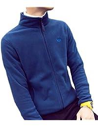 maweisong メンズフリースフルジップジャケットロングスリーブスウェットシャツスポーツウェアコート