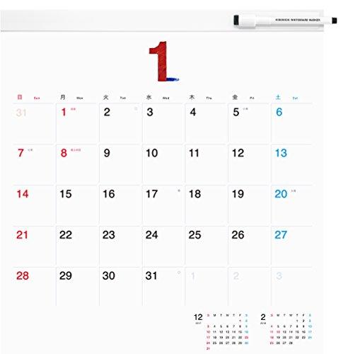 ほぼ日ホワイトボードカレンダー2018 フルサイズ 壁掛け?
